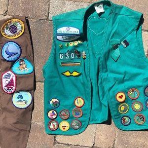 Vintage Girl Scouts sash and vest!